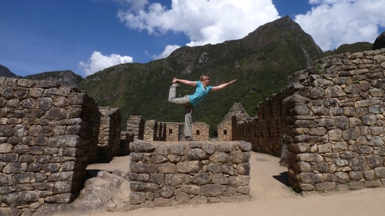 yoga at machu Picchu